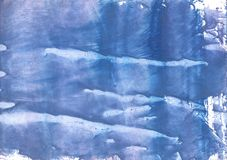 Steel blue clouded wash drawing paper Stock Photo