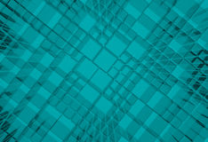 Steel blue cube mesh metal plate background Royalty Free Stock Images