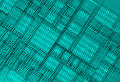 Steel blue cube mesh metal plate background Stock Photography