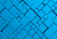 Steel blue cube mesh metal plate background Stock Photo