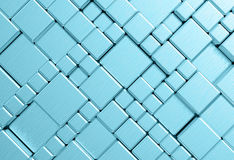 Steel blue cube mesh metal plate background. Or texture stock photo