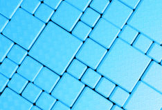 Steel blue cube mesh metal plate background Royalty Free Stock Photo