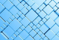 Steel blue mesh metal plate background Stock Photography