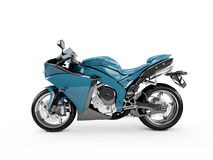 Steel Blue motorcycle Stock Photo