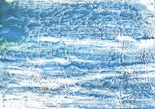 Steel blue nebulous watercolor texture. Hand-drawn abstract watercolor texture. Used contrasting and transient colors Royalty Free Stock Image