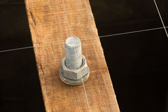 Steel bolt. Setting for concrete column Royalty Free Stock Image