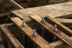 Steel bolt. Setting for concrete column Royalty Free Stock Photo