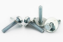 Steel bolt and shim Royalty Free Stock Images