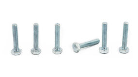 Steel bolt and shim Royalty Free Stock Photography