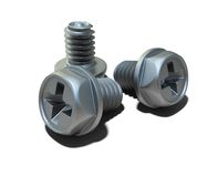 Steel bolts. Over the white background (3D Stock Photos