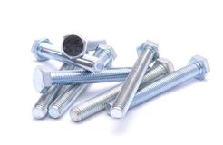 Steel bolts isolated Royalty Free Stock Photo