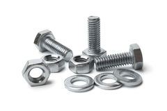 Steel bolts and nuts Stock Photography