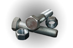 Steel bolts Royalty Free Stock Photos