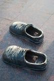 Steel boots Stock Photo