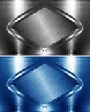 Steel border frame Stock Image