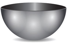 Steel bowl vector illustration