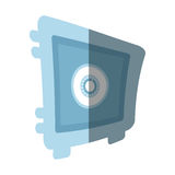 Steel box save money bank security flat icon. Illustration eps 10 Royalty Free Stock Images