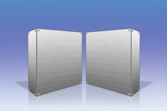 Steel boxes Royalty Free Stock Image