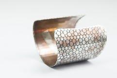Steel bracelet isolate Stock Image