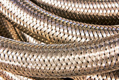 Steel braiding closeup. Stock Images