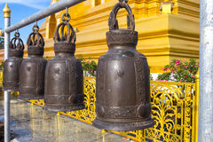 Steel, brass bell Royalty Free Stock Photo