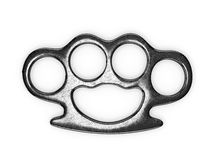 Steel brass knuckles Royalty Free Stock Photography
