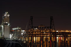 Steel Bridge. In Industrial Area of Portland Oregon Stock Images