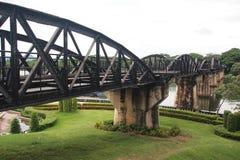 Steel bridge. The Bridge over river Kwai Royalty Free Stock Photo