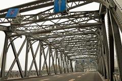 Steel bridge. Garden Bridge of Shanghai China Royalty Free Stock Photography