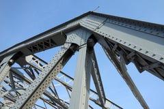 Steel bridge. Under blue sky Stock Photos