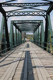 Steel Bridge. Access, adventure, architecture, bridge, connection, construction, crossing, day, daylight, deserted, distance, empty, engineering, forward royalty free stock images