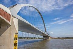 Steel bridge across the river Waal in Nijmegen Royalty Free Stock Image