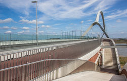 Steel bridge across the river Waal in Nijmegen stock image