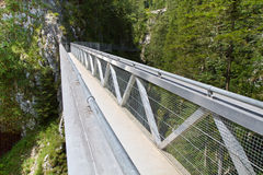 Steel bridge in the alps, Germany Stock Image