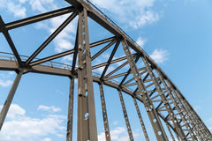 Steel bridge arches Royalty Free Stock Images