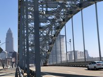 Steel Bridge in the Steel City of Cleveland royalty free stock photo