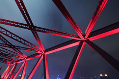 Steel bridge close-up Stock Images