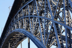 Steel bridge construction Royalty Free Stock Image