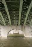 Steel bridge construction. Girder with rivets Royalty Free Stock Photos