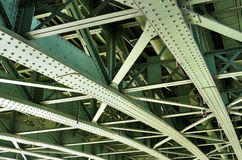 Steel bridge construction Stock Image