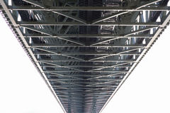 Steel bridge construction perspective view Royalty Free Stock Images