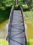 Steel bridge for cross water. Royalty Free Stock Photo