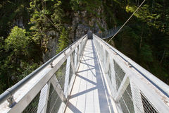 Steel Bridge crossing the Leutasch Gorge, Germany Stock Photography