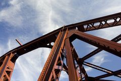 Steel Bridge Detail Royalty Free Stock Photo