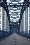 Steel bridge in Hamburg. Steel bridge over a River in Hamburg royalty free stock photo
