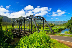Steel bridge in Hanalei, Kauai, Hawaii Stock Photography