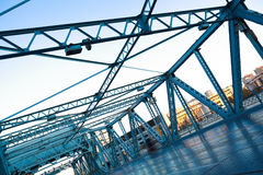 Steel bridge Stock Image