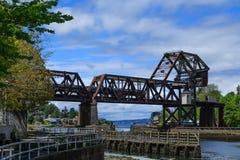 Free Steel Bridge Near Ballard Locks Stock Photography - 103134872