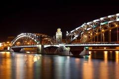 Steel bridge by night Stock Photos