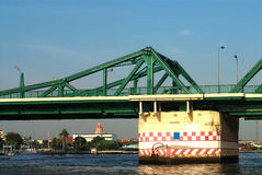 Steel bridge over the Chao Phraya River Royalty Free Stock Photo